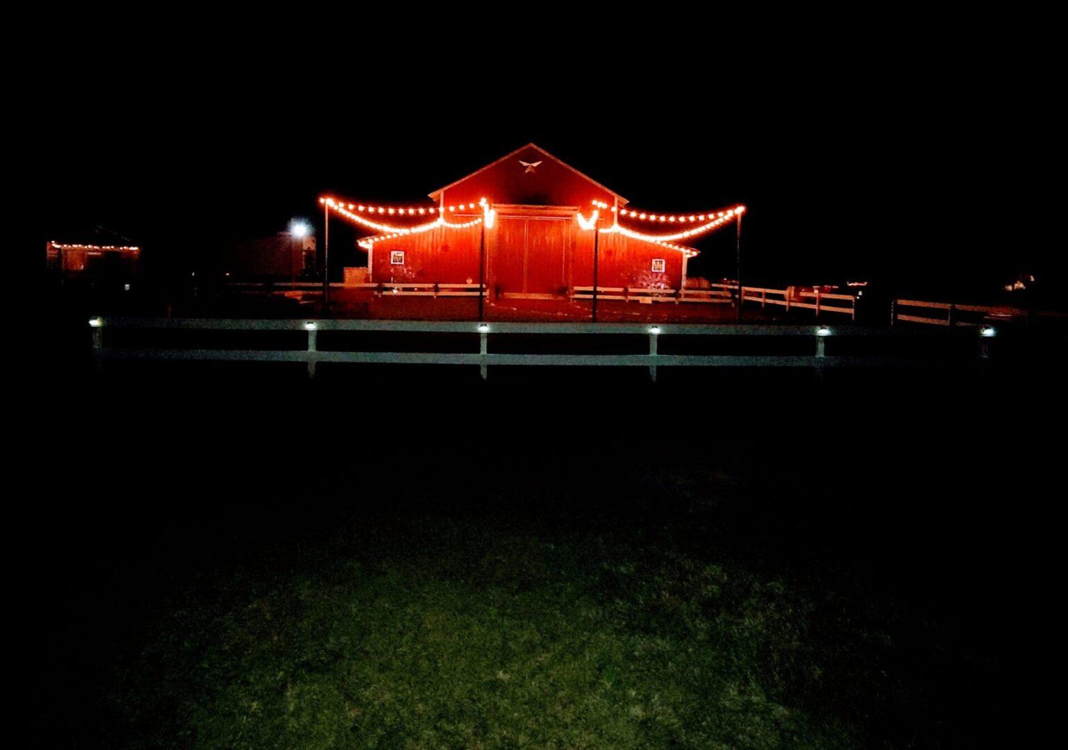 Barn after dark