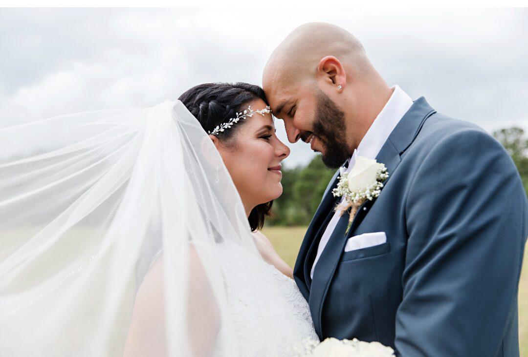 Damaris and Jose close-up wedding photo