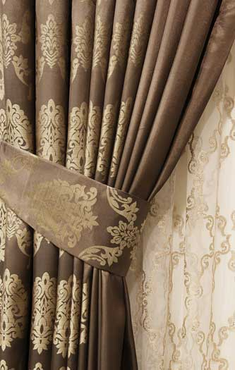 Beautifully draped curtain