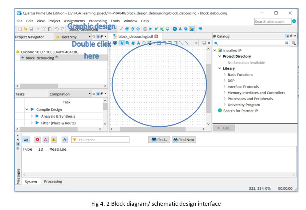 Block diagram/ schematic design interface