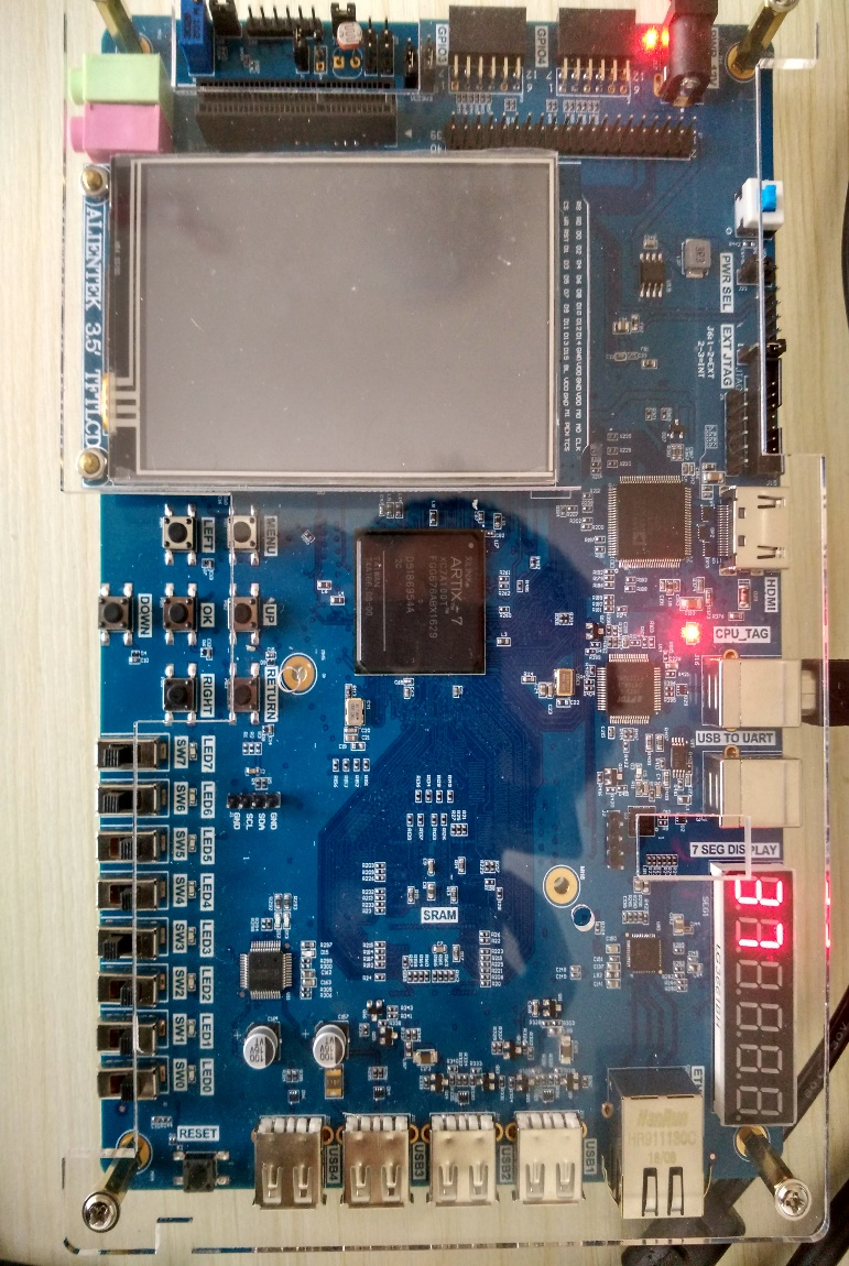 Demonstration of the develop board