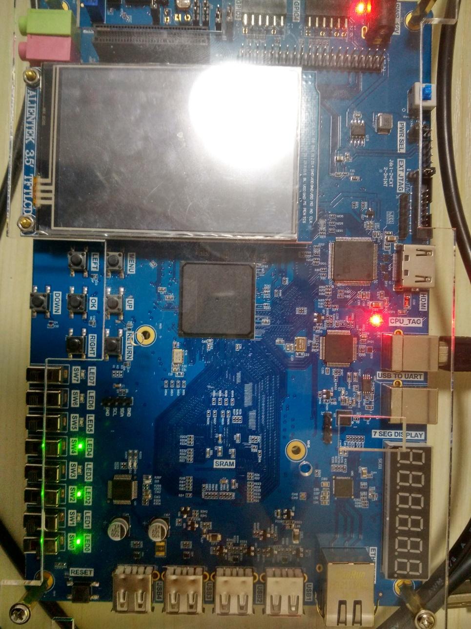 Risc-V Board - Dual_port RAM test result