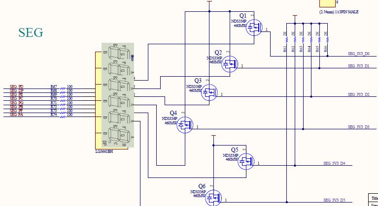 Common anode segment decoder schematics