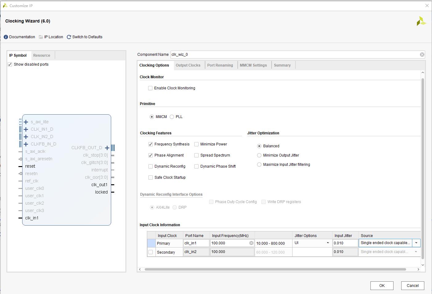 PLL setting interface
