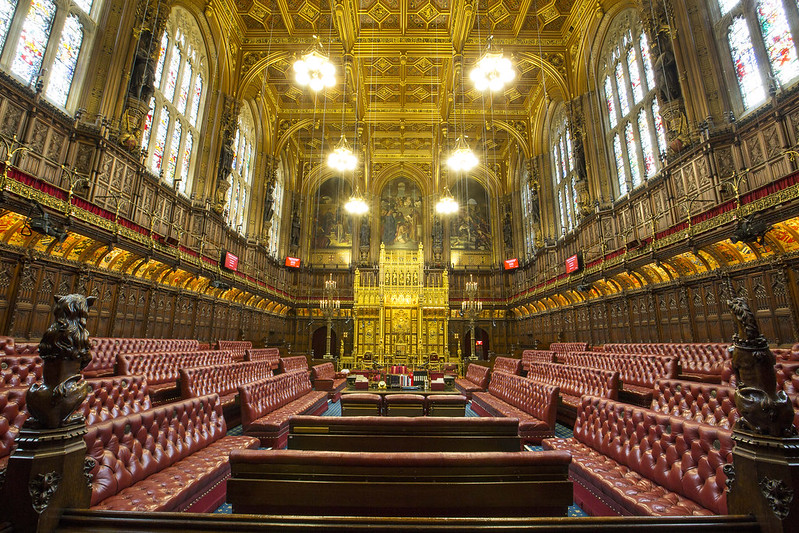 House of Lords in the Palace of Westminster