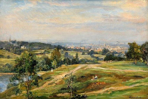Hampstead Heath as painted by James Herbert Snell