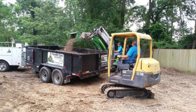 Tender Care Lawn Services   Dirt Work Equipment 2