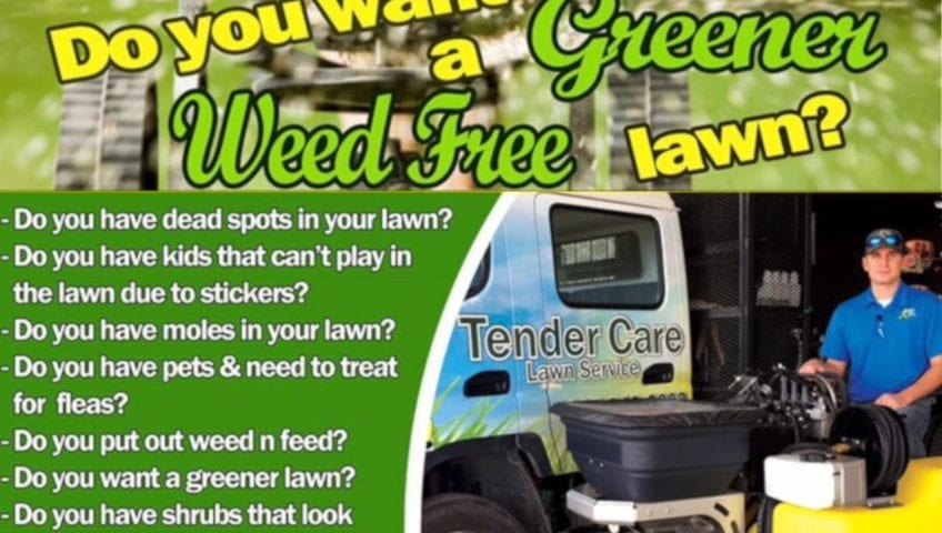 Tender Care Lawn Care Services | Applying Fertilizer And Chemicals To Your Lawn