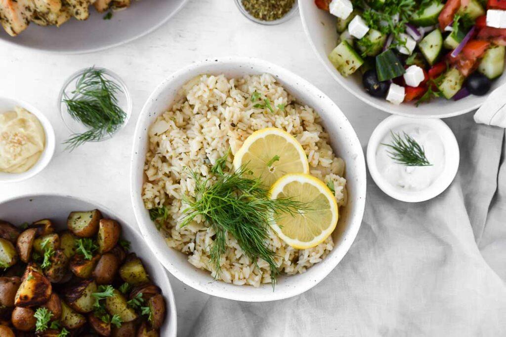 Greek Lemon Dill Rice