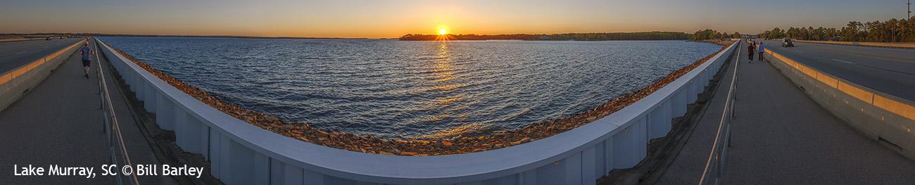 Lake Murray Walkway Panorama