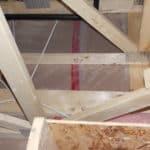 No attic insulation