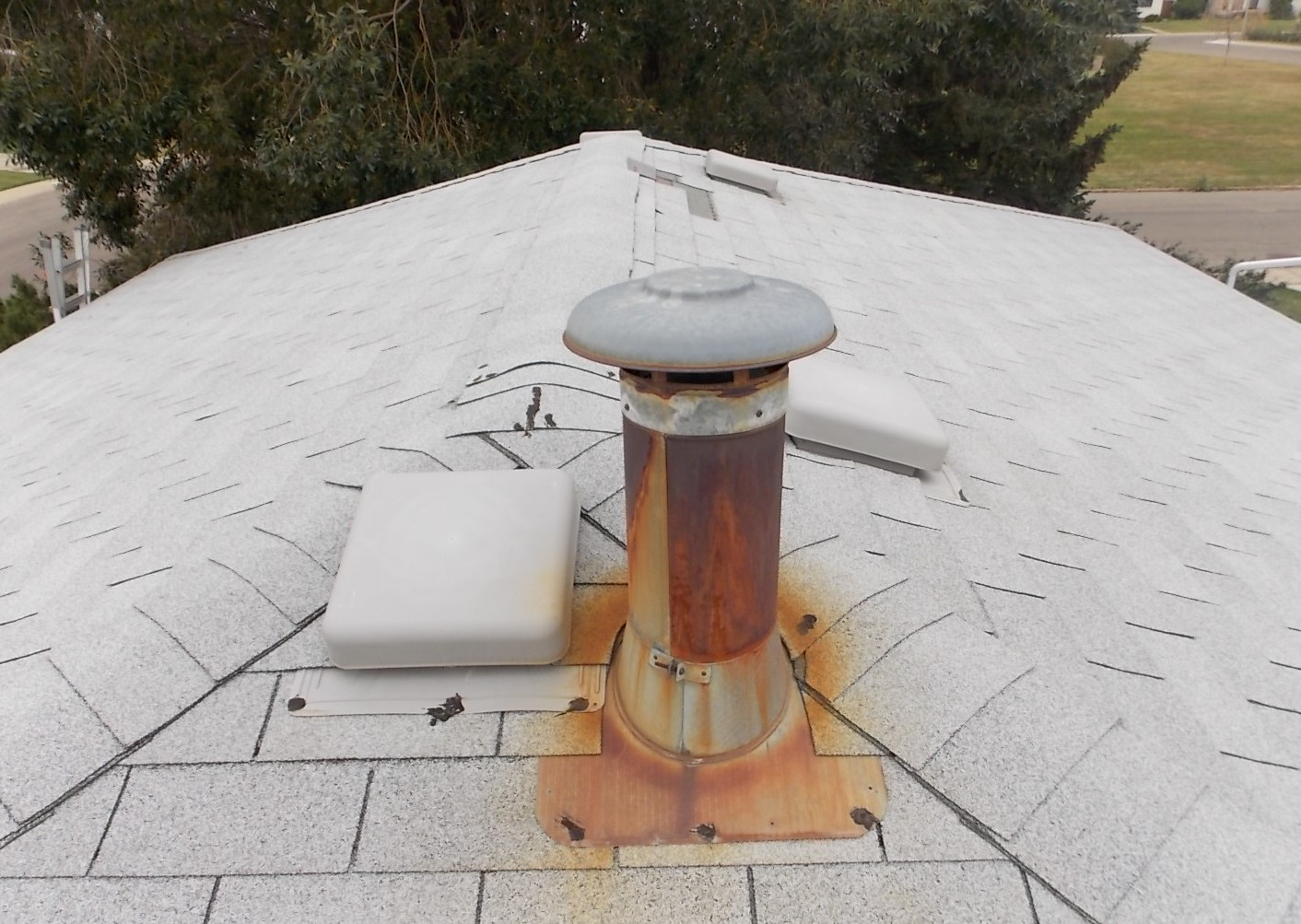 rusted chimney