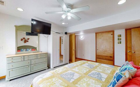 Ground level Master Bedroom #3 with King bed and private bath