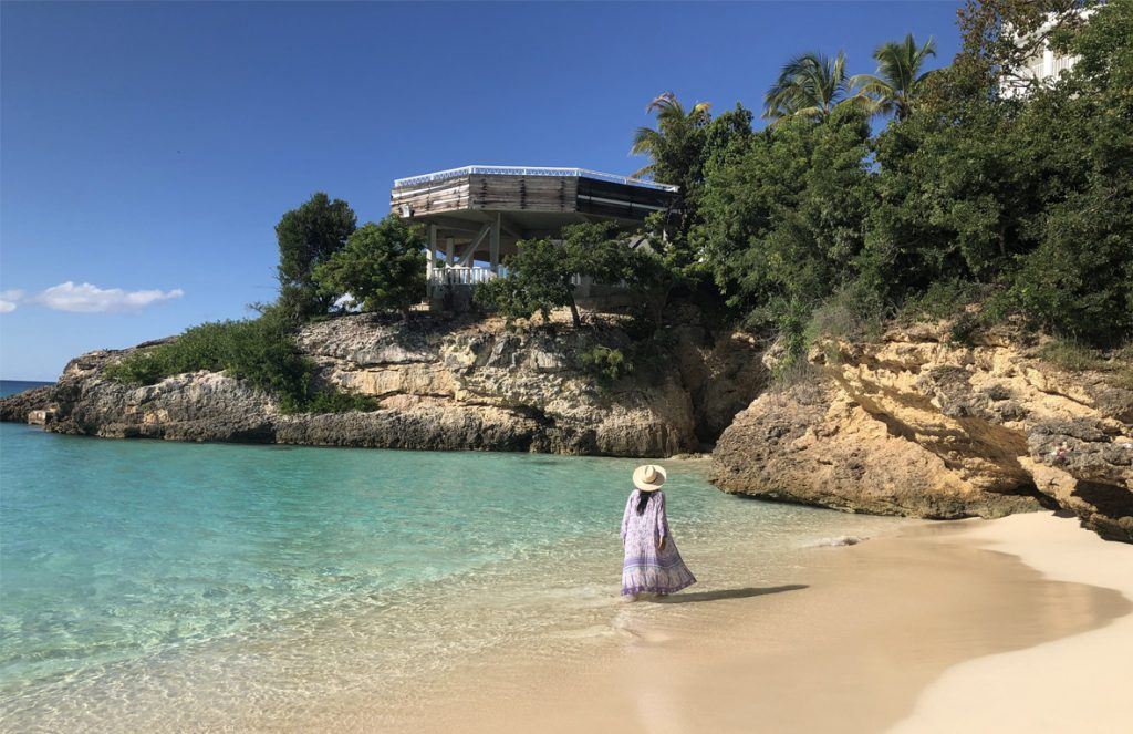 crystal-clear waters in Anguilla