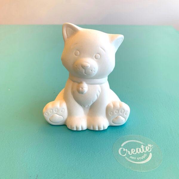 Cute kitty cat crafty ceramics painting DIY kit from Create Art Studio