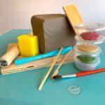 Handbuilding Clay at home kit including glaze
