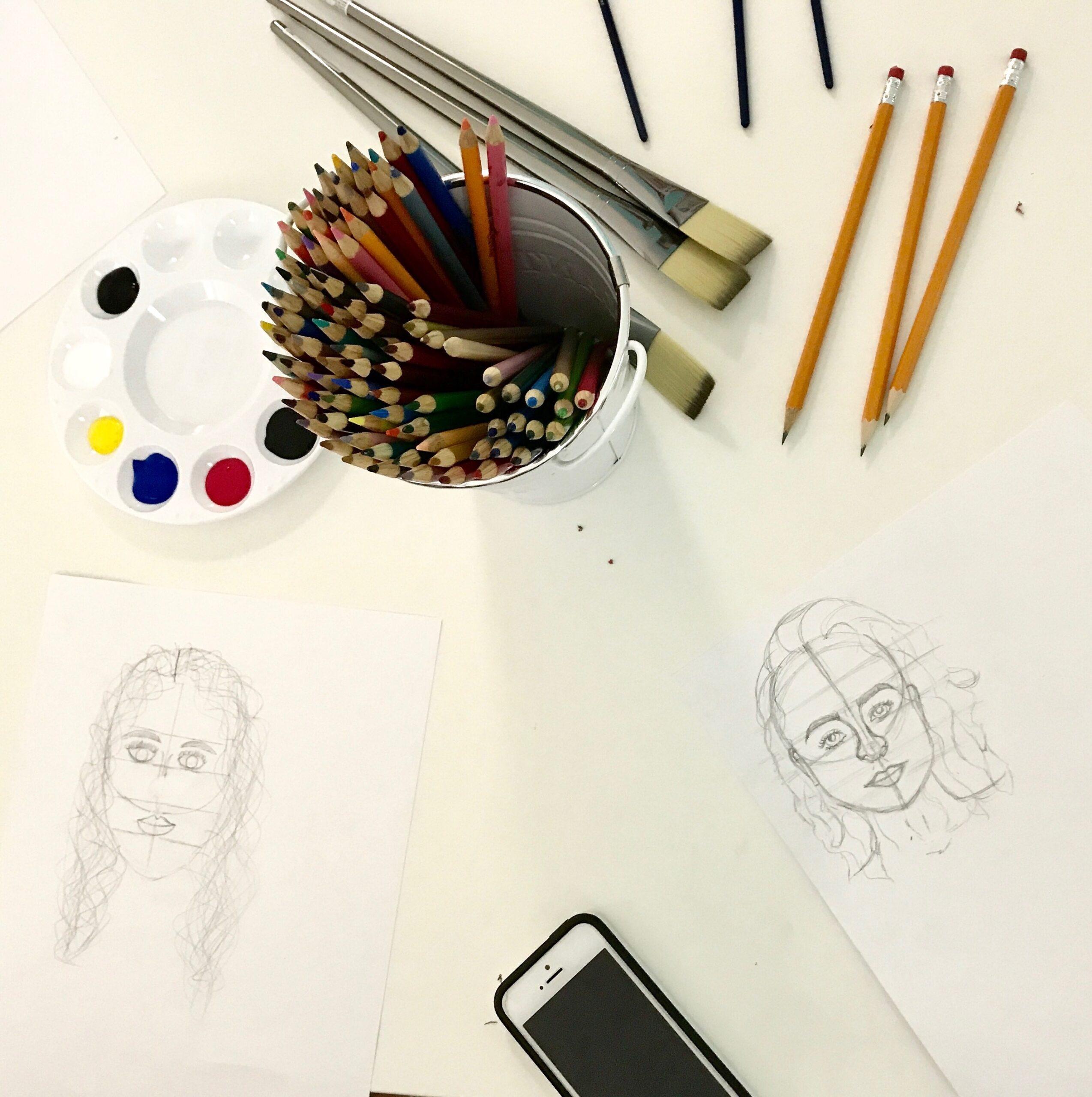 Create Art Studio Intro to Drawing class 2