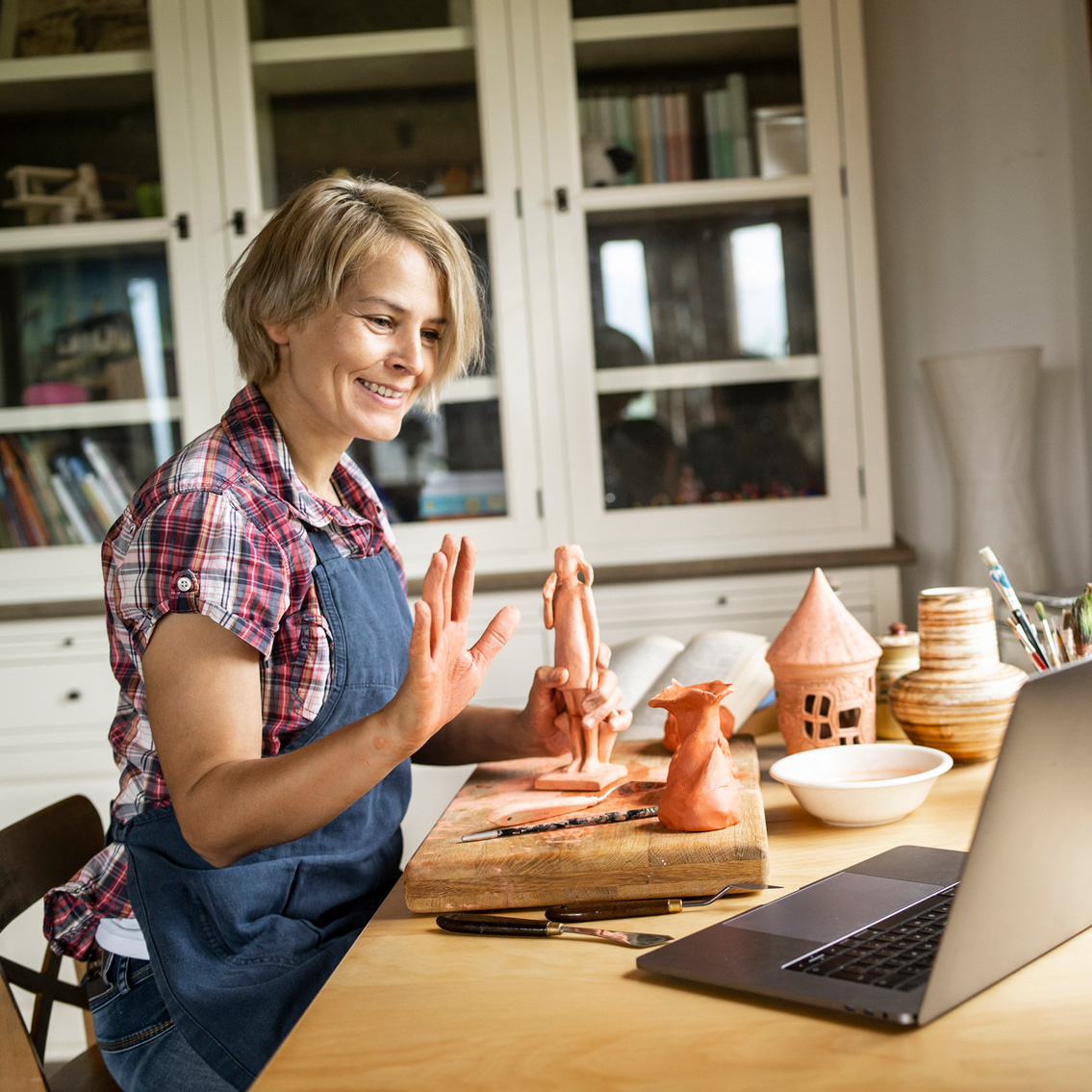Create Art Studio Clay Class online hand building sculpture pottery clay space toronto