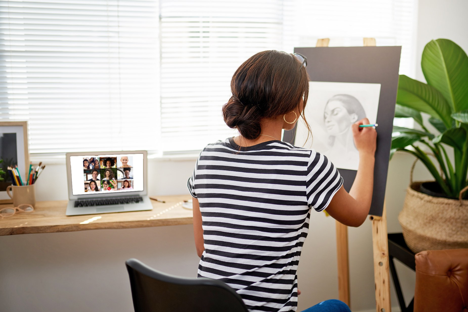 Create Art Studio Adult Online Art Class drawing painting crafting sculpture handbuilding clay creativity classes