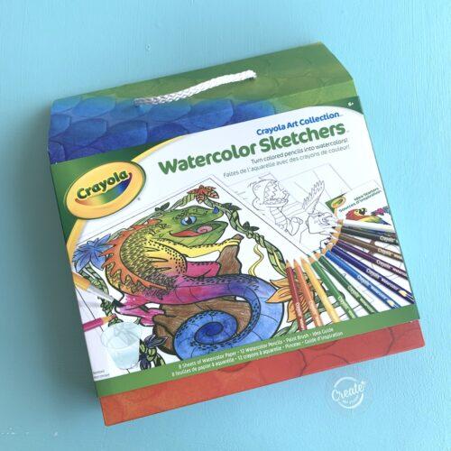 Create Art Studio Crayola Watercolour Sketch Activity Pack