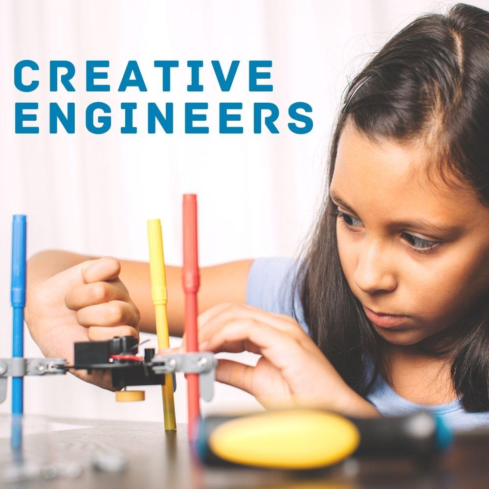 Create Art Studio Creative Engineers maker class for curious kids who like to build cool stuff