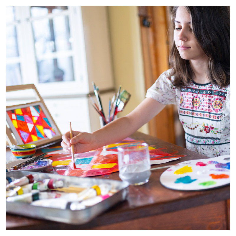 Create Art Studio Online Classes Art Camps for kids and tweens on March Break and Summer Camp virtual