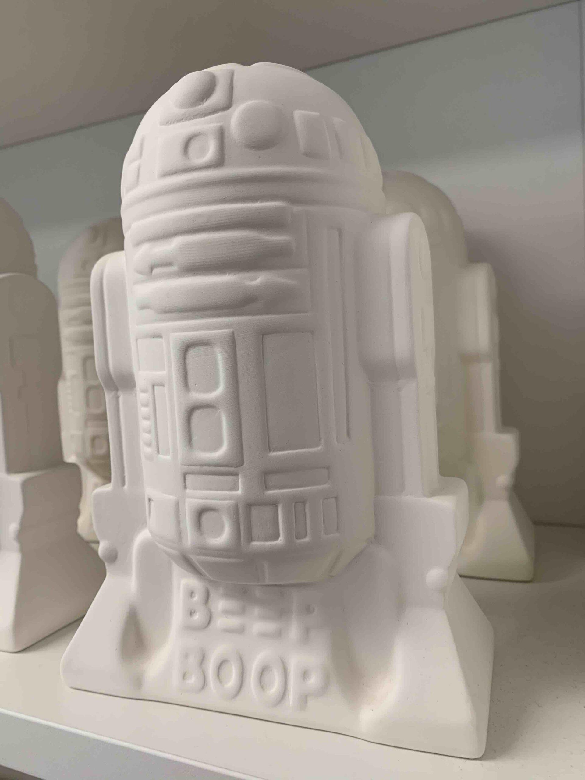 Create Art Studio Ceramics Paint at home kit DIY R2-D2 Star Wars Money Bank