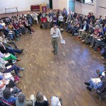 Rob Hopkins speaking to a Transition Towns conference in London. Photo: Transition Network.