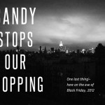 Sandy Stops Our Shopping