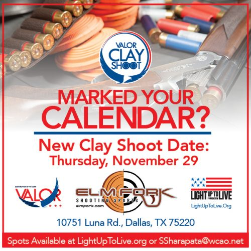 Countdown to Valor Clay Shoot Fundraiser on Nov. 29th
