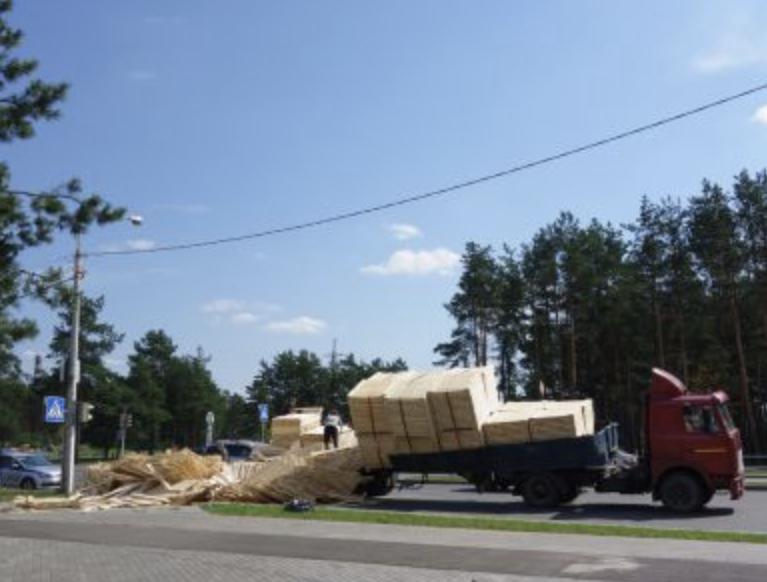 Truck Cargo Accident