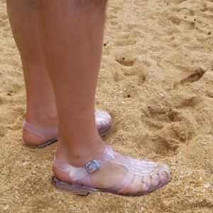 Men's jelly shoes