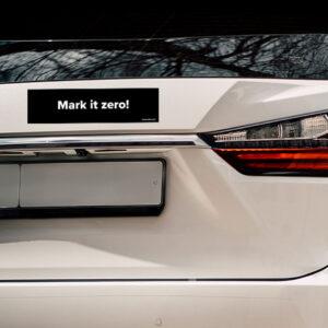 Lebowski Bumper Sticker - Mark it Zero