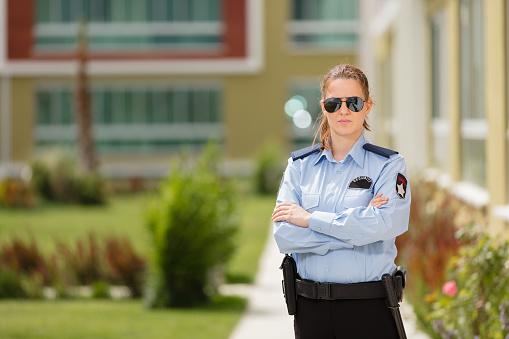 Woman security guard