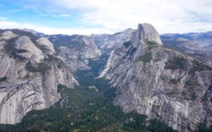 Iconic view of Yosemite and Half Dome