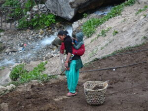 Everest Base Camp, local villagers