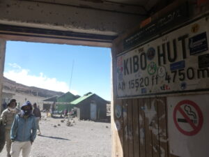 After the alpine desert, Kibo Hut is a short night before the final ascent.