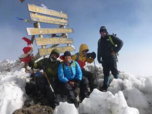 Summit Kilimanjaro, or Uhuru at 19,341'/5,895 m at the iconic sign