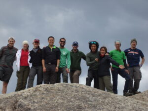 Patagonia: A group photo on top of Erratic Rock, not Erotic Rock.