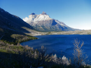 Patagonia: The catamaran ride back to the park entrance passes by Los Cuernos.