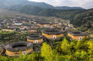 Fujian Tulou Hakka: overview of Yongding's mountainous terrain