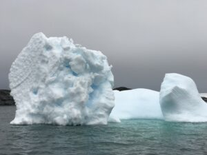 Icebergs have mesmerizing shapes and colors. Antarctic Kayaking