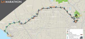 LA Marathon Course Map