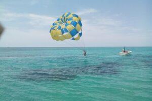 Parasailing the Jamaican Coast: A natural mystic blowing through the air