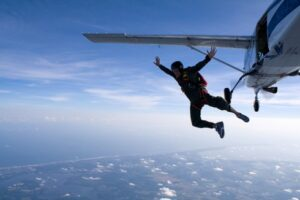 Skydiving: Skydive: Jump out of a perfectly good plane