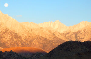 Mt. Whitney in the morning from Lone Pine