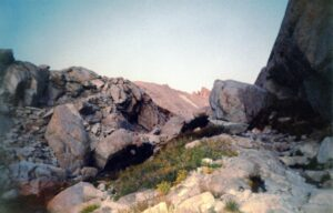 Mt. Whitney hike, giant granite slabs on the trail