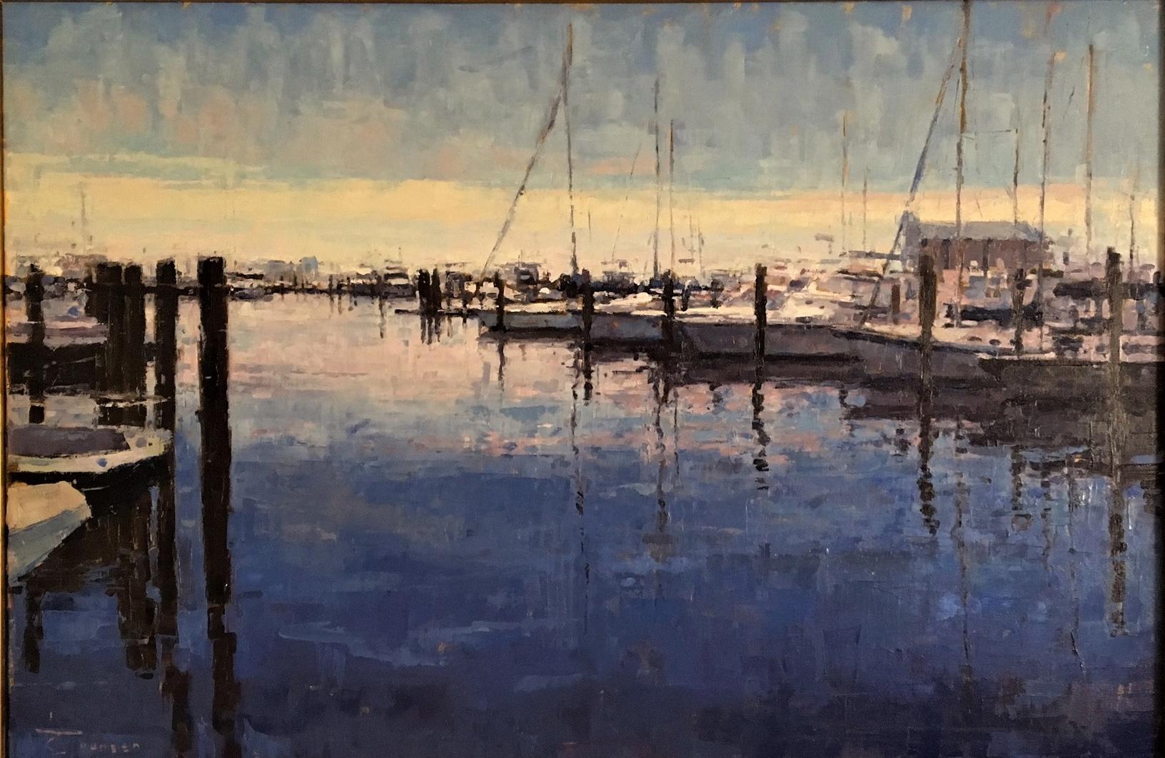 Curtis Stewart Jaunsen-Harbor at Dusk, Mississippi Coast, 24x36(1)