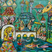 Holly Atkinson-Whimsical Wonderscape 18x24