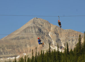 Big Sky Resorts Twin zipline is the crown gem of the zipline tour